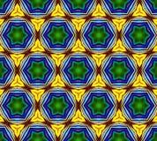 Иллюстрация произведенная компьютером с абстрактным kaleidoscopic patt Стоковое фото RF
