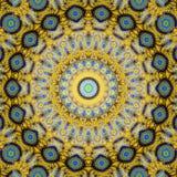 Иллюстрация произведенная компьютером с абстрактным kaleidoscopic patt Стоковые Фото