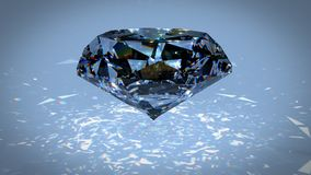 Иллюстрация рассеивания 3d черного алмаза Carbonado поликристаллическое диаманта, графита, и аморфного углерода кристалл Стоковая Фотография