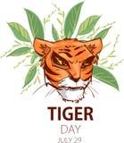 Иллюстрация реветь сердитого тигра головная бесплатная иллюстрация