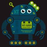 Иллюстрация робота 2 завальцовки Стоковые Изображения RF