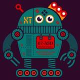 Иллюстрация робота 2 завальцовки Стоковое Фото