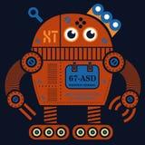 Иллюстрация робота 2 завальцовки Стоковое Изображение