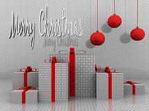иллюстрация рождества предпосылки веселая Стоковая Фотография RF