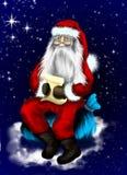 Иллюстрация рождества с Santa Claus Стоковое Изображение RF