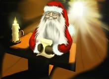 Иллюстрация рождества с Santa Claus Стоковые Изображения RF