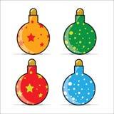 иллюстрация рождества baubles Стоковые Фотографии RF
