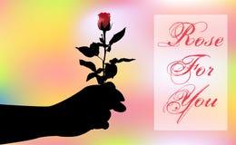 Иллюстрация Роза для вас иллюстрация штока