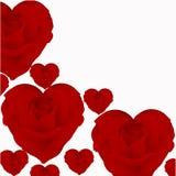 Иллюстрация роз в форме сердца Стоковые Изображения