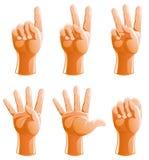 иллюстрация руки жестов Стоковые Изображения RF
