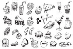 иллюстрация руки притяжки doodle Стоковая Фотография RF