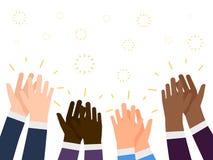 Иллюстрация рукоплескания плоская Международная концепция вектора хлопать рук людей бесплатная иллюстрация