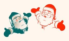 Иллюстрация Санта Клауса, комплекта Стоковое Изображение