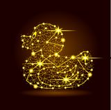 Иллюстрация светлых звезд утки полигональная иллюстрация штока