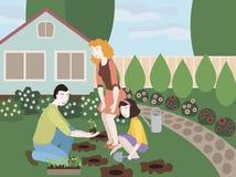 Иллюстрация семьи Стоковое Фото
