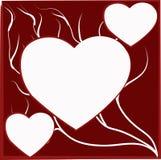 Иллюстрация сердец и скручиваемостей Стоковые Фотографии RF