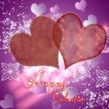 Иллюстрация сердец на красной предпосылке Стоковая Фотография RF