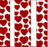 Иллюстрация сердец с розами Стоковое Изображение RF