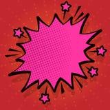 Иллюстрация сердитого пузыря речи с небольшими звездами и толстым более темным планом Текст взрыва полутонового изображения пусто иллюстрация штока