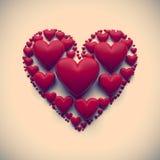Иллюстрация сердца год сбора винограда -   Стоковая Фотография
