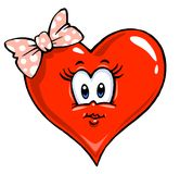 иллюстрация сердца девушки шаржа Стоковая Фотография