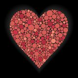 иллюстрация сердца предпосылки черная Стоковые Изображения