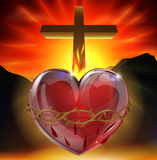 иллюстрация сердца священнейшая Стоковые Фото