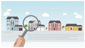 Иллюстрация современных и традиционных домов, дизайна проекта дома, концепции недвижимости для продаж Стоковые Фото
