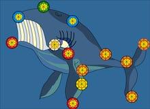 Иллюстрация созвездия кита Стоковые Фото