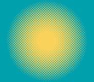 Иллюстрация солнца полутонового изображения Стоковые Изображения