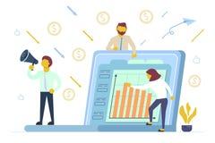 Иллюстрация стиля вектора концепции финансовых инвестиций плоская иллюстрация вектора