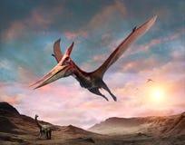 Иллюстрация сцены 3D Pteranodon иллюстрация вектора
