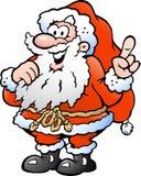 Иллюстрация счастливый указывать Санта Стоковое Изображение RF