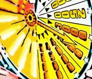 Иллюстрация счета пунктов стрелки аранжировала радиально стоковое фото rf