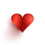 Иллюстрация с красной формой сердца иллюстрация вектора