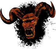 Иллюстрация татуировки стороны демона diabolik злой иллюстрация вектора