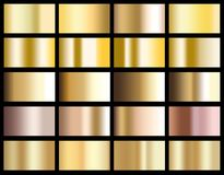 Иллюстрация текстуры значка предпосылки градиента золота металлическая для иллюстрация вектора