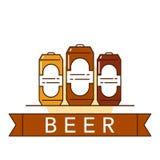 Иллюстрация темы пива Стоковые Фотографии RF