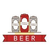 Иллюстрация темы пива Стоковое Изображение