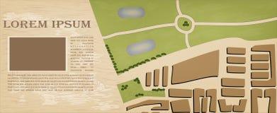 Иллюстрация топографической карты. Предпосылка вектора Стоковое Изображение RF