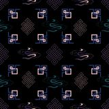 Иллюстрация традиционного символа узла, орнаменты вектора, безшовная картина повторения иллюстрация штока