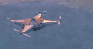 иллюстрация трутня летания Стоковое Изображение