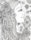 Иллюстрация фантастической принцессы иллюстрация вектора