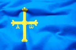 Иллюстрация флага Астурии реалистическая бесплатная иллюстрация