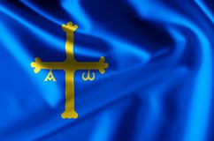 Иллюстрация флага Астурии реалистическая иллюстрация штока