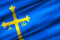 Иллюстрация флага Астурии бесплатная иллюстрация