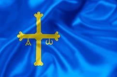 Иллюстрация флага Астурии иллюстрация штока