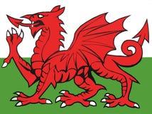 Иллюстрация флага вэльса Стоковые Изображения