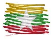 Иллюстрация флага - Мьянма Стоковая Фотография