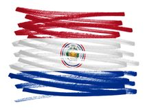 Иллюстрация флага - Парагвай Стоковое фото RF